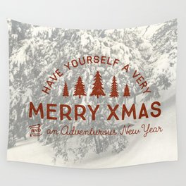 Merry Xmas Wall Tapestry