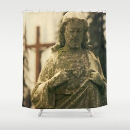 Jesus and Cross Shower Curtain