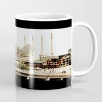 kansas city Mugs featuring Kansas City Skyline by Barefoot Creative Services