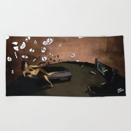 SUNRISE WITH BROKEN PLATES (2004 version) Beach Towel