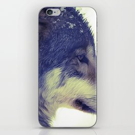 Oil Painting wolf iPhone Skin