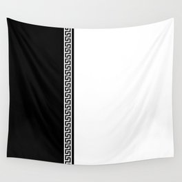 Greek Key 2 - White and Black Wall Tapestry