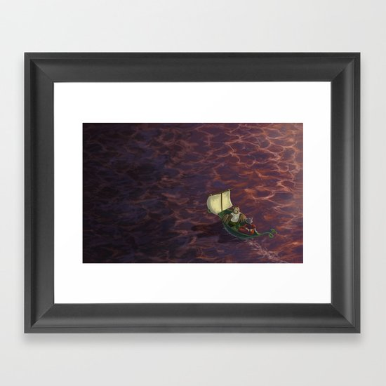 They Went To Sea Framed Art Print