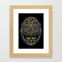 Owl Mandala Framed Art Print