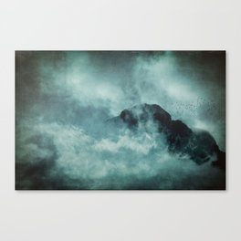 On the top of the world - Mountains Dust Canvas Print