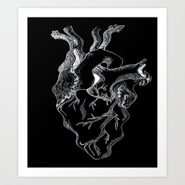 Love Makes Your Heart Go Squiggle 2.0  Art Print