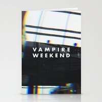vampire weekend Stationery Cards featuring Vampire Weekend 3 by alboradas