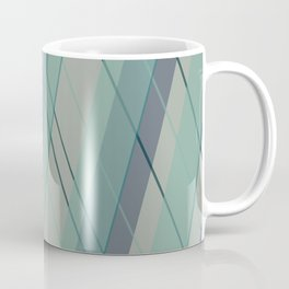 Teal blue green stripes Coffee Mug