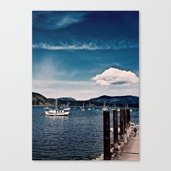 Cowichan Bay Marina, Cowichan Bay B.C. Canada Canvas Print