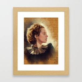 Elsa Lanchester, Vintage Actress Framed Art Print