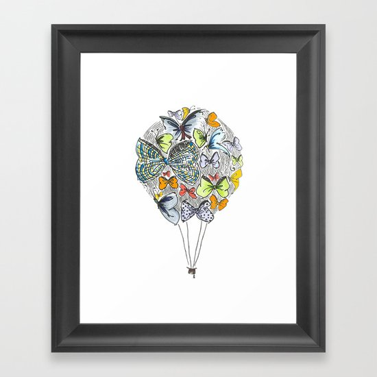 Bows & Butterflies Framed Art Print