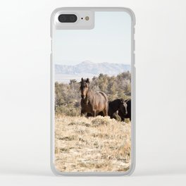 Watchful Wild Clear iPhone Case