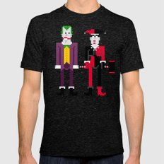 Joker and Harley Quinn Tri-Black Mens Fitted Tee 2X-LARGE
