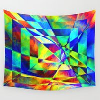 illusion Wall Tapestries featuring Illusion. by Assiyam