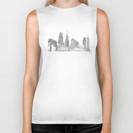 New York City by the Downtown Doodler Biker Tank