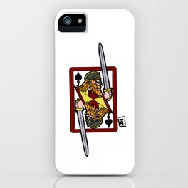Ogier the Dane: Jack of Spades iPhone Case