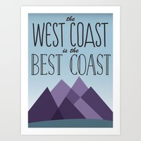 west coast Art Prints featuring West Coast by Kyramari