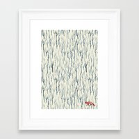 wood Framed Art Prints featuring Winter Wood by littleclyde