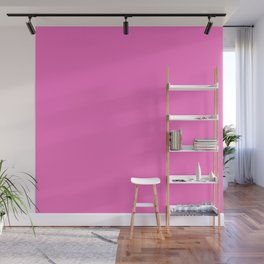 Neon Pink Solid Colour Wall Mural