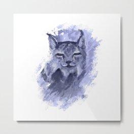 Eurasian Lynx Metal Print