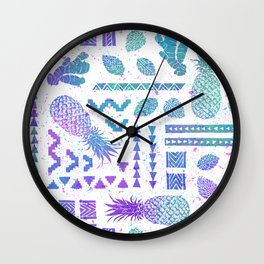 Pineapple Ginger Mint Wall Clock