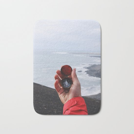 On with the Wanderlust - Find Your Way to Adventure Bath Mat