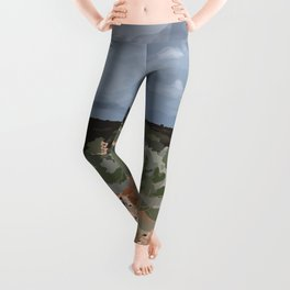 Cows in the Mountains Leggings