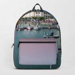 Lindau Island Harbor Sunset Backpack