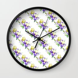 Irises Neck Gator Colorful Irises Wall Clock