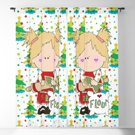 Cooking Christmas Cookies Blackout Curtain