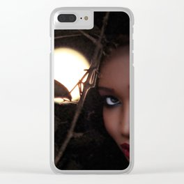 Moon Goddess Clear iPhone Case