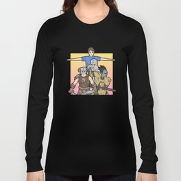 TES 高齢者のスクロール Long Sleeve T-shirt