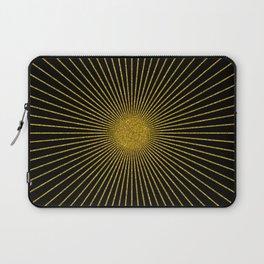 Gold glitter sun rays, gold glitter, gold black abstract geometric, gold sparkles Laptop Sleeve