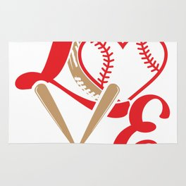 Baseball Lovers Softball Mom Fan Gift Rug