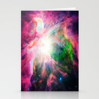 nebula Stationery Cards featuring Orion NebuLA Colorful Purple by 2sweet4words Designs
