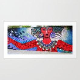 Graffiti Goddess I Art Print