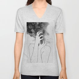 Losing thoughts. Unisex V-Neck