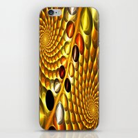 fractal iPhone & iPod Skins featuring Fractal by Digital-Art