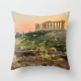 Frederic Edwin Church - The Parthenon From The Southeast - Digital Remastered Edition Throw Pillow