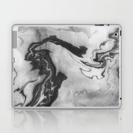 Hiroto - ink japanese marble paper free monoprint pattern marbled cell phone case india ink painting Laptop & iPad Skin