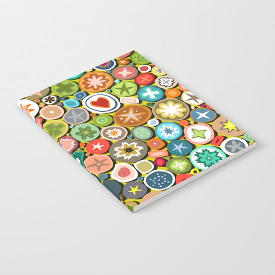 millefiori yellow Notebook