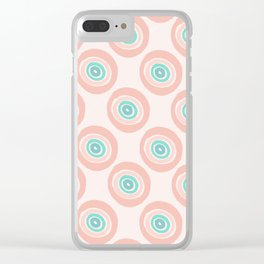 Rainbow Dots Clear iPhone Case