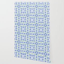Little Blue Tulip Pattern Wallpaper