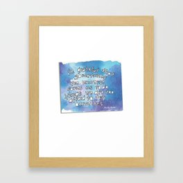Glimmer of Gladness from Wendy Natter! Framed Art Print