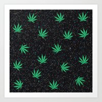 weed Art Prints featuring Weed by jajoão