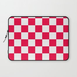 Cheerful Red Checkerboard Pattern Laptop Sleeve