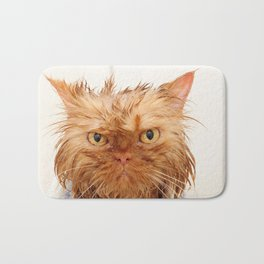 Wet Persian Cat Bath Mat
