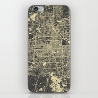 minneapolis iPhone & iPod Skins featuring Minneapolis Map by Map Map Maps