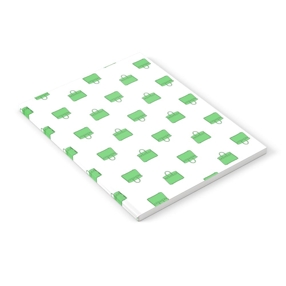 Green Birkin Vibes High Fashion Purse Illustration Notebook by therivalteam (NBK8661511) photo