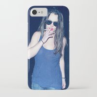britney spears iPhone & iPod Cases featuring Britney Spears Smoking by KBK24
